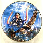 Maiden of the Mystical Thunderbird Collector Plate by David Penfound MAIN