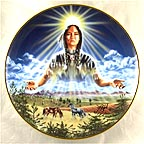 Sun Maiden Collector Plate by David Penfound MAIN