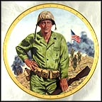 John Wayne, Symbol Of America's Fighting Forces Collector Plate by Robert Tanenbaum