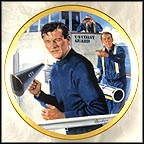 John Wayne, Symbol Of The U.S. Coast Guard Collector Plate by Robert Tanenbaum