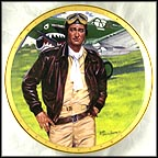 John Wayne, Symbol Of America's Fighter Pilots Collector Plate by Robert Tanenbaum