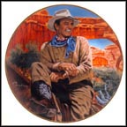 John Wayne, The Legend Lives On Collector Plate by Robert Tanenbaum MAIN