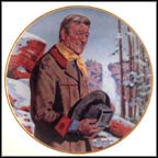 John Wayne, Pine Ridge Collector Plate by Robert Tanenbaum