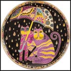 Fair Weather Felines Collector Plate by Laurel Burch
