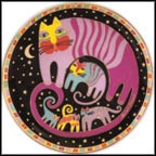 Feline Family Collector Plate by Laurel Burch