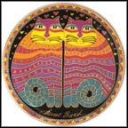 Friendly Felines Collector Plate by Laurel Burch