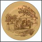 Living Along The River Collector Plate by Yves Beaujard MAIN