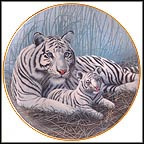 White Tigers Collector Plate by Michael Matherly