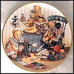 Teddy Bear Sewing Circle Collector Plate by Nita Showers
