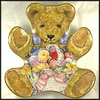 Teddy's Easter Basket Collector Plate by Sarah Bengry
