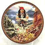 Geronimo Collector Plate by Tom Beecham MAIN