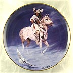 Spirit Of The Winter Hawk Collector Plate by Hermon Adams MAIN