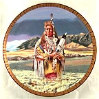 Medicine Crow Collector Plate by Tom Beecham