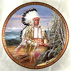 Red Cloud Collector Plate by Tom Beecham