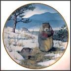 Woodchucks In The February Thaw Collector Plate by Peter Barratt MAIN