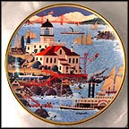Lighthouse By The Bay Collector Plate by Harry Wysocki
