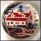 Port Pinos Lighthouse Collector Plate by Harry Wysocki