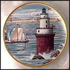 Steamer Boat Lighthouse Collector Plate by Harry Wysocki