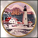 Winter Seascape Collector Plate by Harry Wysocki
