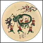 Dragon Dance Collector Plate by Shunsuke Suetomi