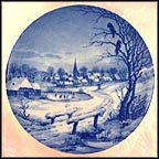 Snowy Village Collector Plate