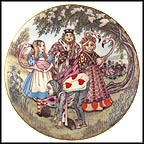 Alice And The Croquet Game Collector Plate by Sandy Nightingale MAIN