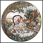 Alice And The Mad Hatter Collector Plate by Sandy Nightingale MAIN
