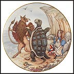 The Gryphon And Mock Turtle Collector Plate by Sandy Nightingale MAIN