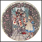 Alice And The Roses Collector Plate by Sandy Nightingale MAIN