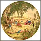 Alice And The White Rabbit Collector Plate by Sandy Nightingale