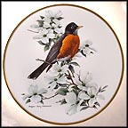 Robin Collector Plate by Roger Tory Peterson MAIN