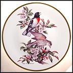 Rose-Breasted Grosbeak Collector Plate by Roger Tory Peterson MAIN