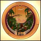 Garden Of Eden Collector Plate by F. F. Long