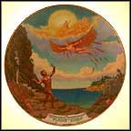 The Flight Of Icarus Collector Plate by August Frank