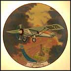 Lindbergh Flies The Atlantic Collector Plate by August Frank MAIN
