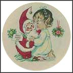 Santa And Girl Collector Plate by Charlotte Byj