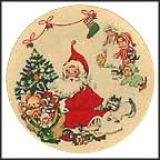 Santa At Tree Collector Plate by Charlotte Byj