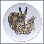 Rabbits Collector Plate by Gerhard Bochmann