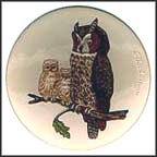 Owls Collector Plate by Gerhard Bochmann