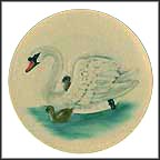 Swan Collector Plate by Gerhard Bochmann