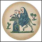 Flight Into Egypt - Porcelain Collector Plate by Janet Robson