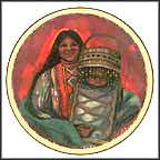 Apache Mother And Child Collector Plate by Rena Paradis Donnelly