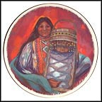 Mother And Child Of The Apache People Collector Plate by Rena Paradis Donnelly