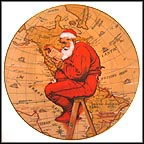 Santa Plans His Visit Collector Plate by Norman Rockwell