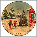 Playing By The Christmas Tree Collector Plate by Dominic Mingolla