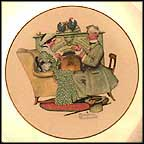 Gaily Sharing Vintage Time Collector Plate by Norman Rockwell MAIN