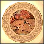 Autumn Reflections Collector Plate by Norman Rockwell