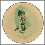 Boy With Flower Collector Plate