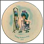 Girl Dressing Up In Mirror Collector Plate