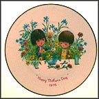 Children With Flowers Collector Plate